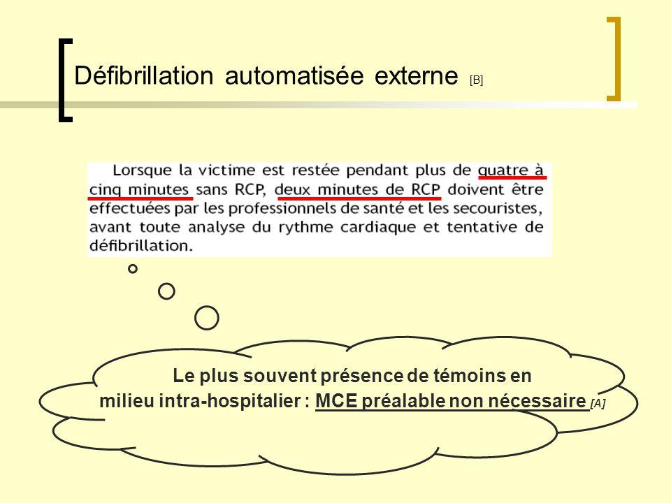 Défibrillation automatisée externe [B]